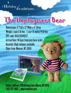 Deployment Bear, By Priscilla York.